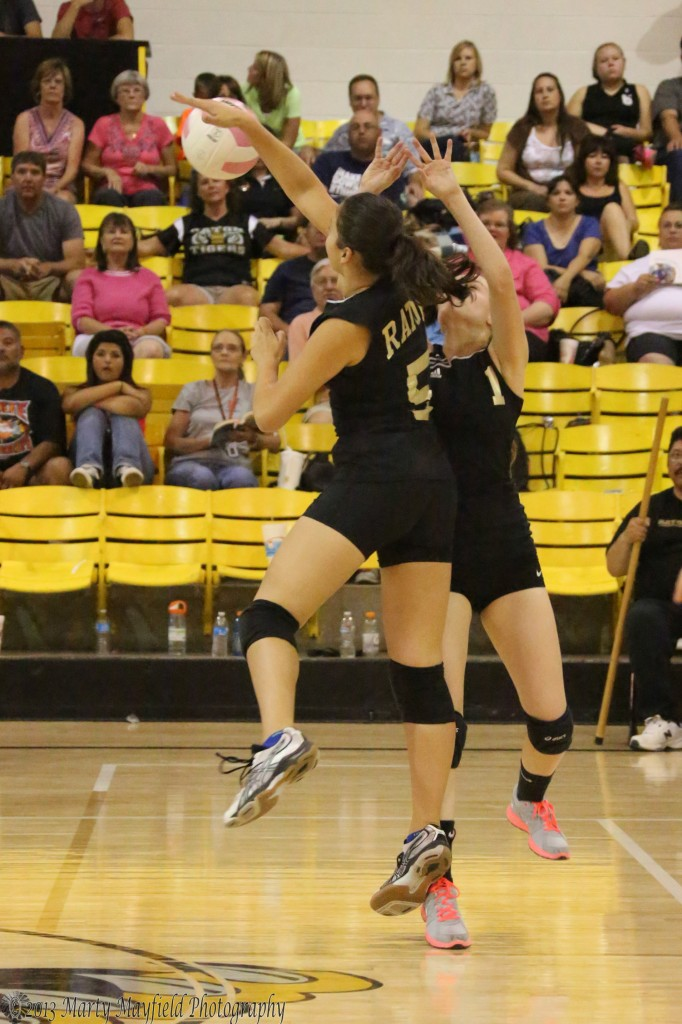 Ashley Nuerauter and Leah Cimino go for the ball during  game three