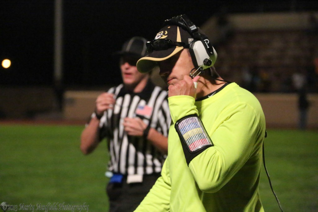 Coach Tory Giacomo shows his frustration as the Tigers just cant seem to gel Friday night in clayton