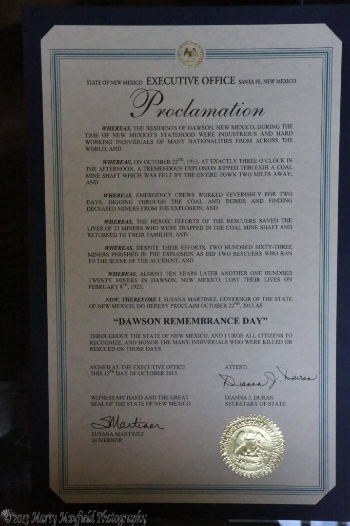 The Proclamation from Governor Susana Martinez