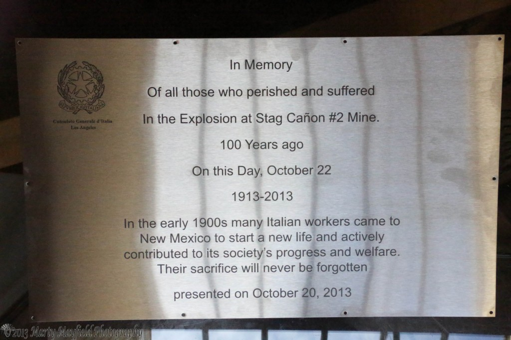 This plaque will be installed at the Dawson Cemetery during the biannual reunion picnic held on Labor Day weekend at the old townsite of Dawson