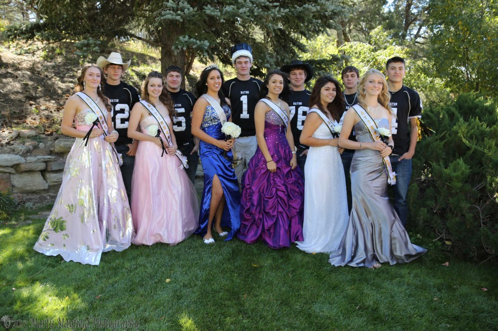 Homecoming King and Queen and their Court Mikala Vertovec, Caleb Wood, Leah Cimino, Jordan Mendez, Queen Michelle Guara, King Cam Baird, Kalista Dorrance, Logan Williams, Elezabeth Valdez, Daryn Romero, Sierra Pillmore and Luis Ruiz
