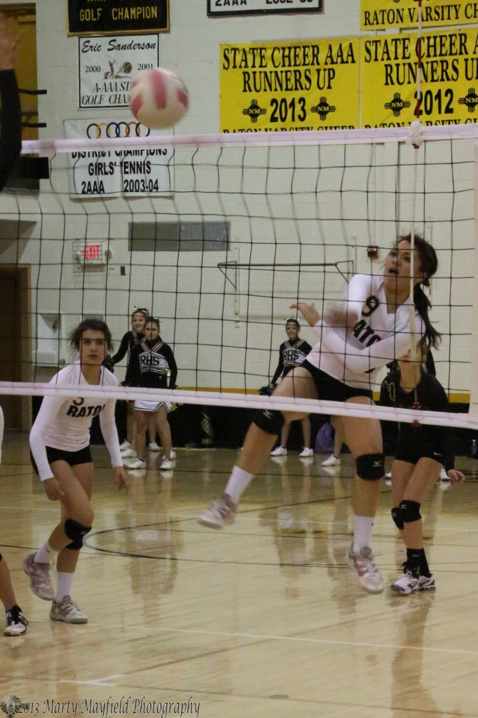 Kalista Dorrance sends it over in game 3 as the girls close in on the win.
