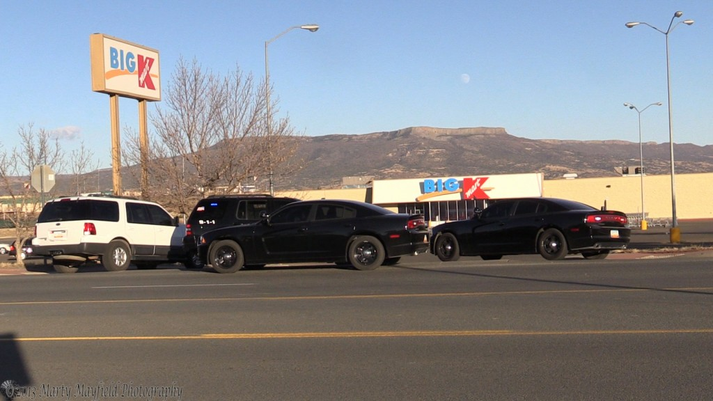 Raton Police blocked off the entrance to K-Mart Thursday afternoon after the store received a call about a bomb in the store.