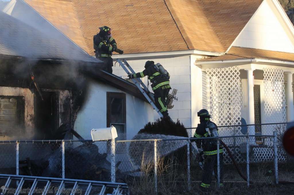 Fire Fighters are in the mop up stages of a house fire at 830 N 3rd in Raton, NM Friday morning.