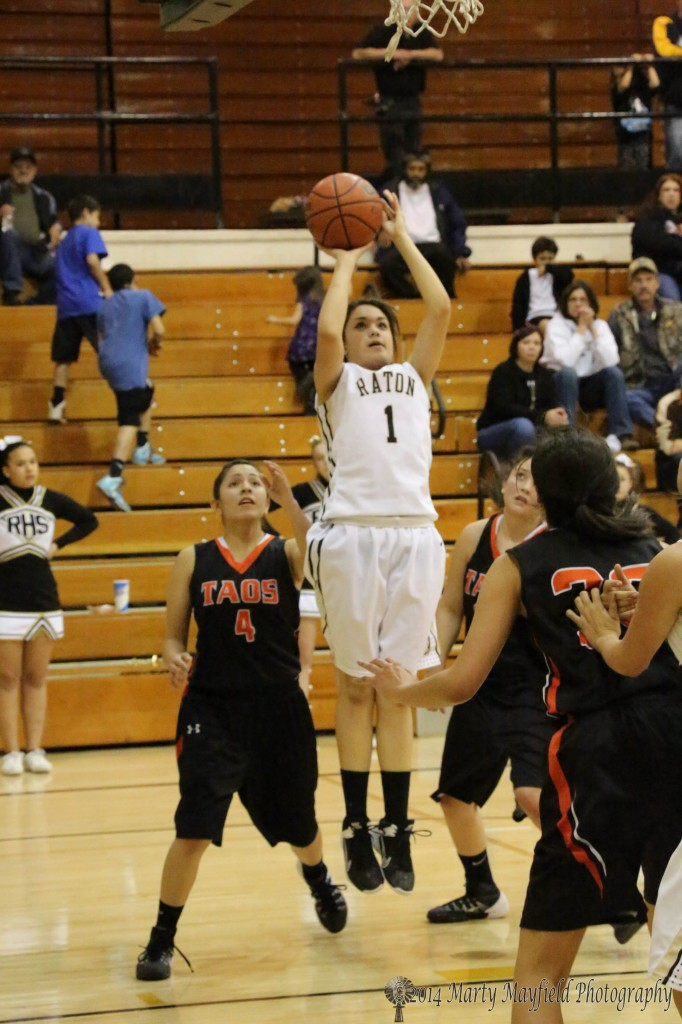 Kallista Dorrance put one up from just outside the free throw lane Friday night