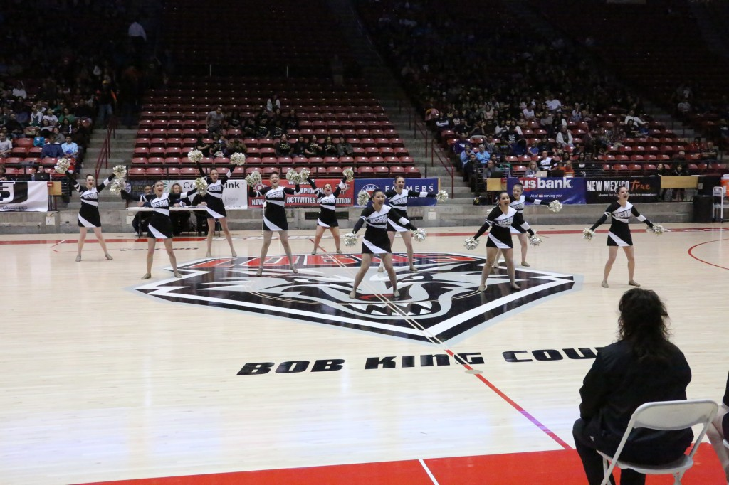 Friday morning in the Pit, the TigerCats dance team performed at the State Spirit competition