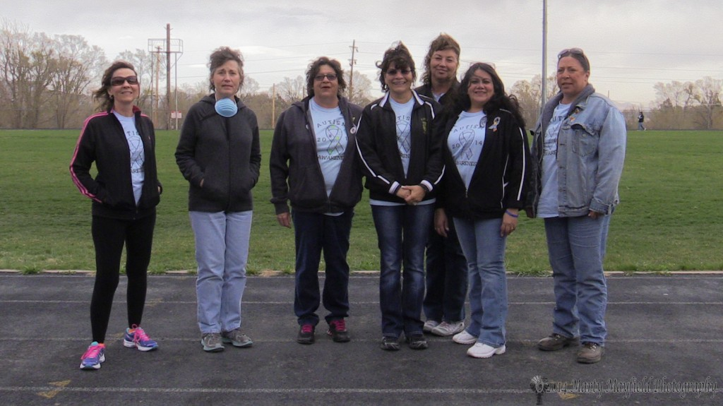Members of the Special Education Team at Raton Schools helped with the Autism Awareness Walk held at Tiger Stadium Saturday April 26, 2014 l to r Carol Unger, Ann Walton, Nancy Gomez, Petra Bertola, Lori Herron, Lou Martinez, Stephanie Grande