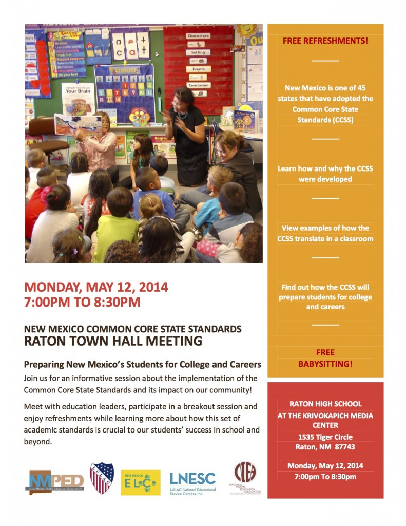 CCSS Town Hall Flyer - RATON_ENG