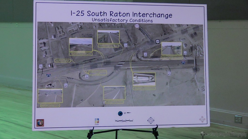 This view show the current south interchange with areas of concern that will be addressed in the new design