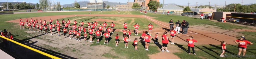 RHS, RMS and Lil Cheer leaders performed before the Osos Santa Fe game Tuesday evening.