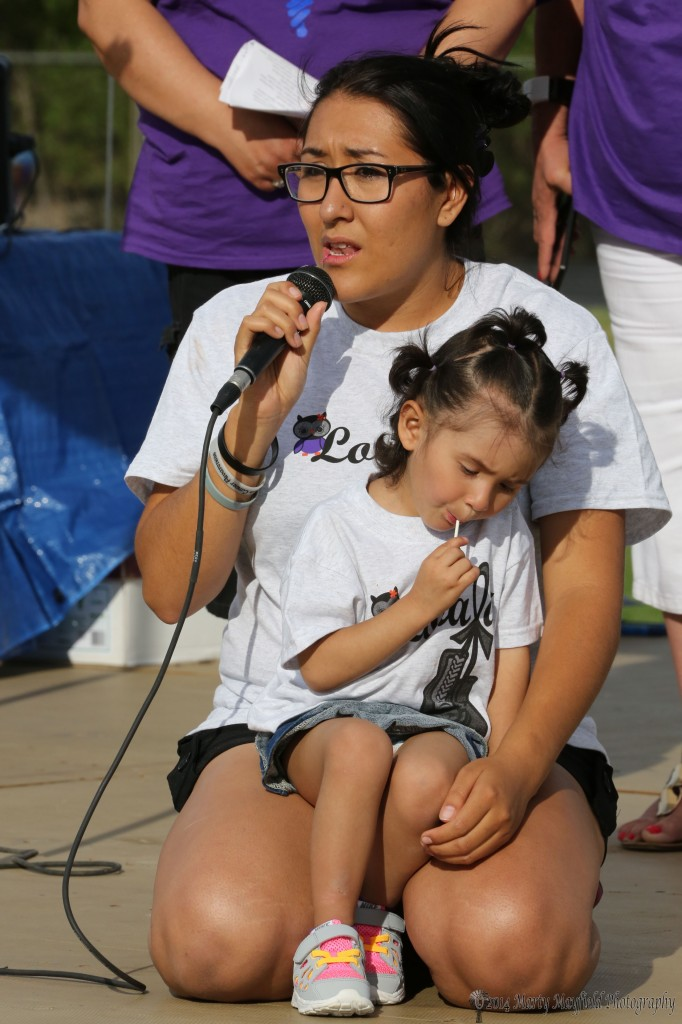Chantle Guiterrez spoke as a caregiver who takes care of her daughter Loralai who has been through so much in her short life. Little Loralai has had cancer from birth and is battling it for the fourth time.