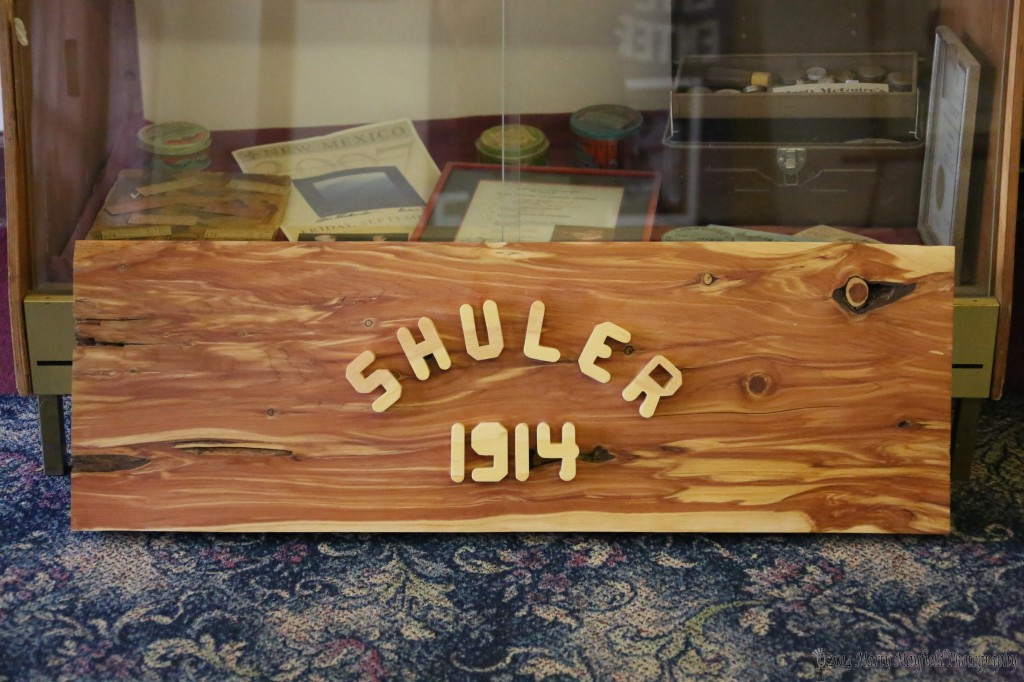 A wood plaque for the Shuler Theater