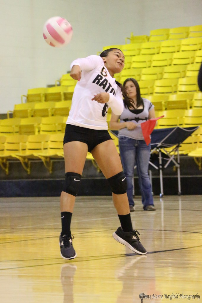 Joslin Romero, playing Labero, makes a play for the ball
