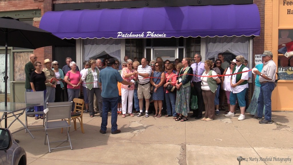 The Ribbon Cutting ceremony was held in front of Patchwork Phoenix on Raton's Historic First Street Friday at noon.