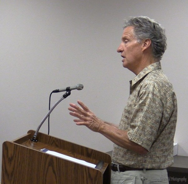 David Stafford spoke to the city commission about the tree planting project with Grow Raton who will seek a grant from the New Mexico RE-LEAF program