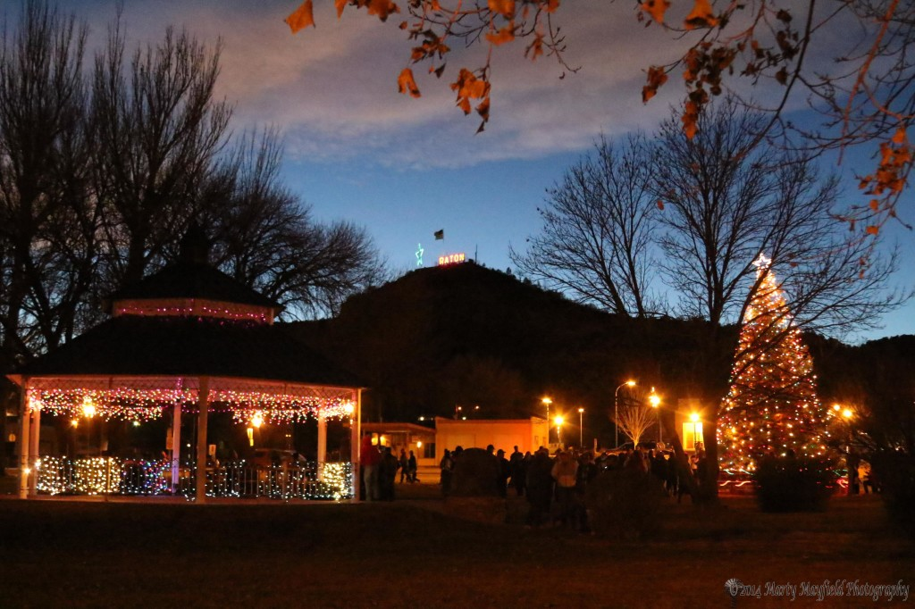 The annual lighting of the Christmas Tree in Ripley Park took place Saturday evening