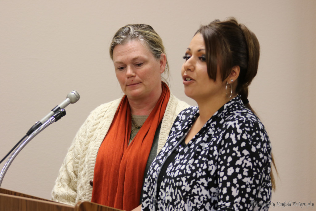 Erica Meadows and Danielle Esparza spoke about the JJAC program. The city administers the grant that funds the program.