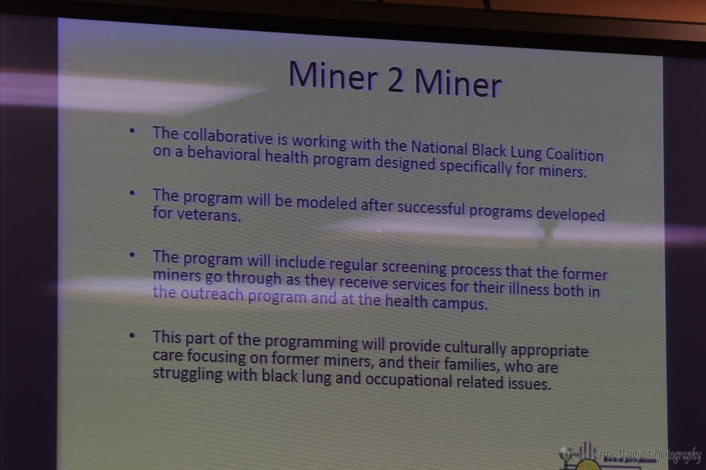 One of the concepts that MCMC is working on is the Miner 2 Miner program that will bring behavioral health programs to miners.