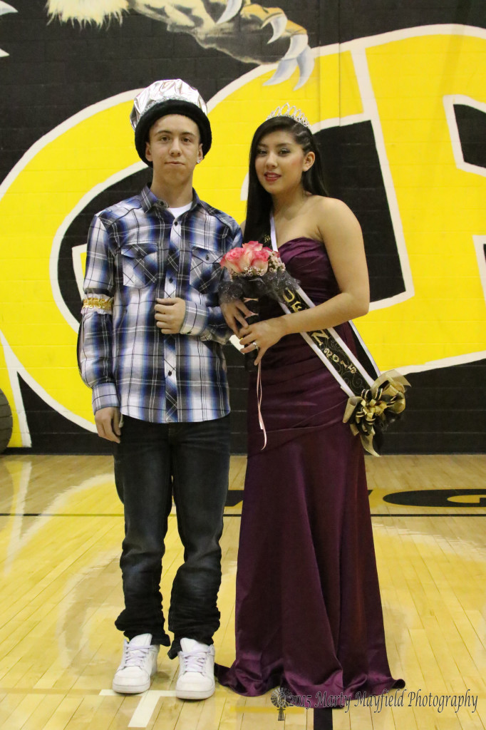2015 Tigerfest King Dion Padilla and Queen Sabrina Valdez
