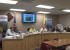 City Manager Scott Berry showed the commissioners some of the clean up work that is being done on some of the city's really old drainage ditches.