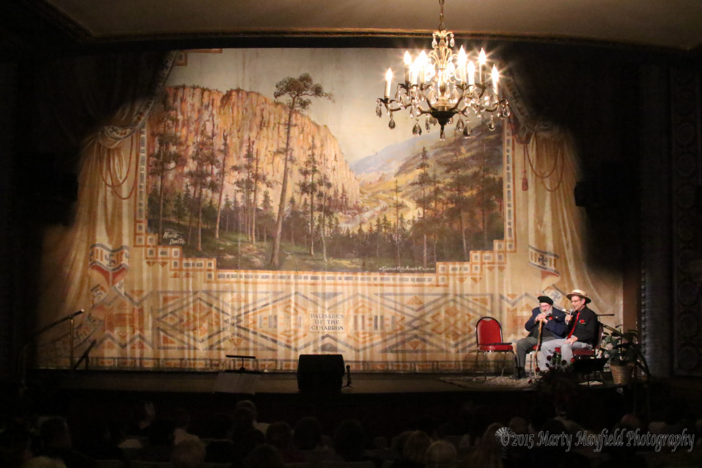 One of the original curtains at the Shuler. The curtain was made of 4x25 foot canvas panels