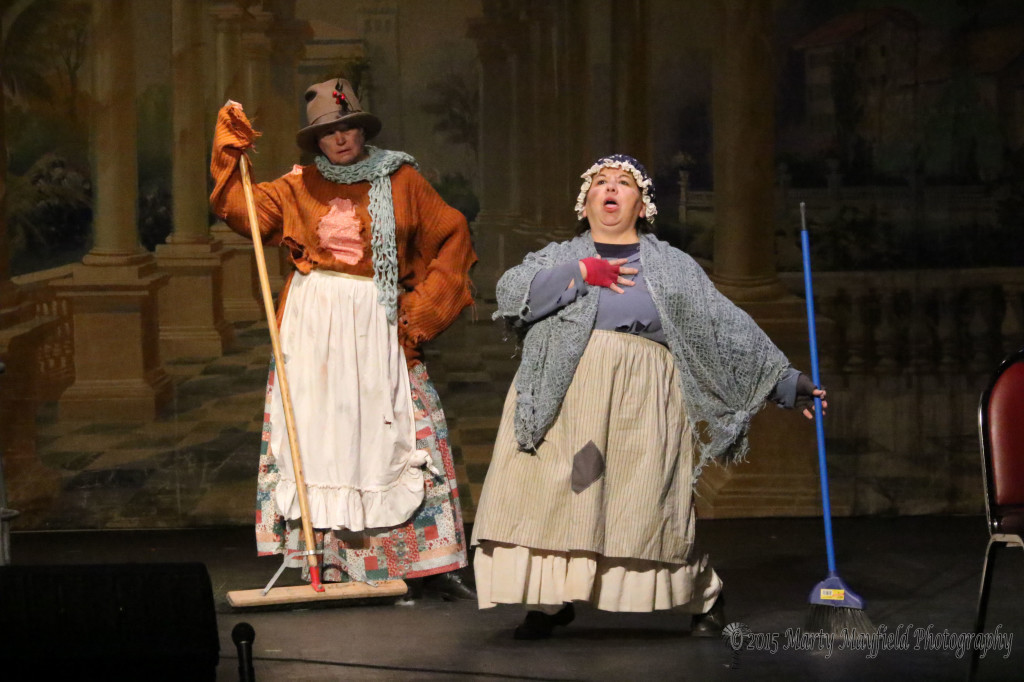 "Sarah Kowalski and Adella Garcia and they are the Char women who perform during ""A Christmas Carol"""