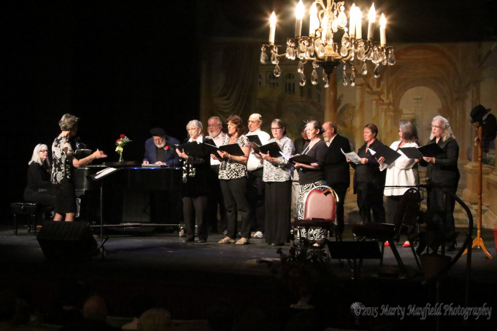 The Willow Springs Singers wrap up the 100th anniversary event Monday evening