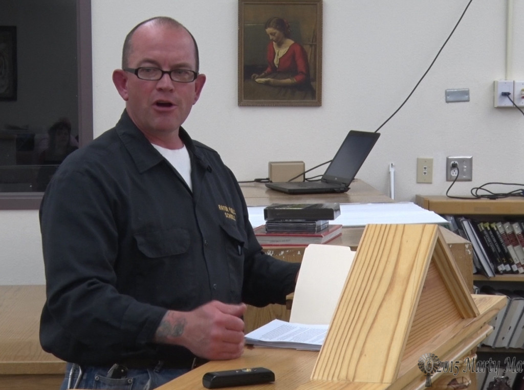 Maintenance Supervisor Ben Munden spoke to the board about the costs to move playground equipment, putting up fence and moving a portable building.