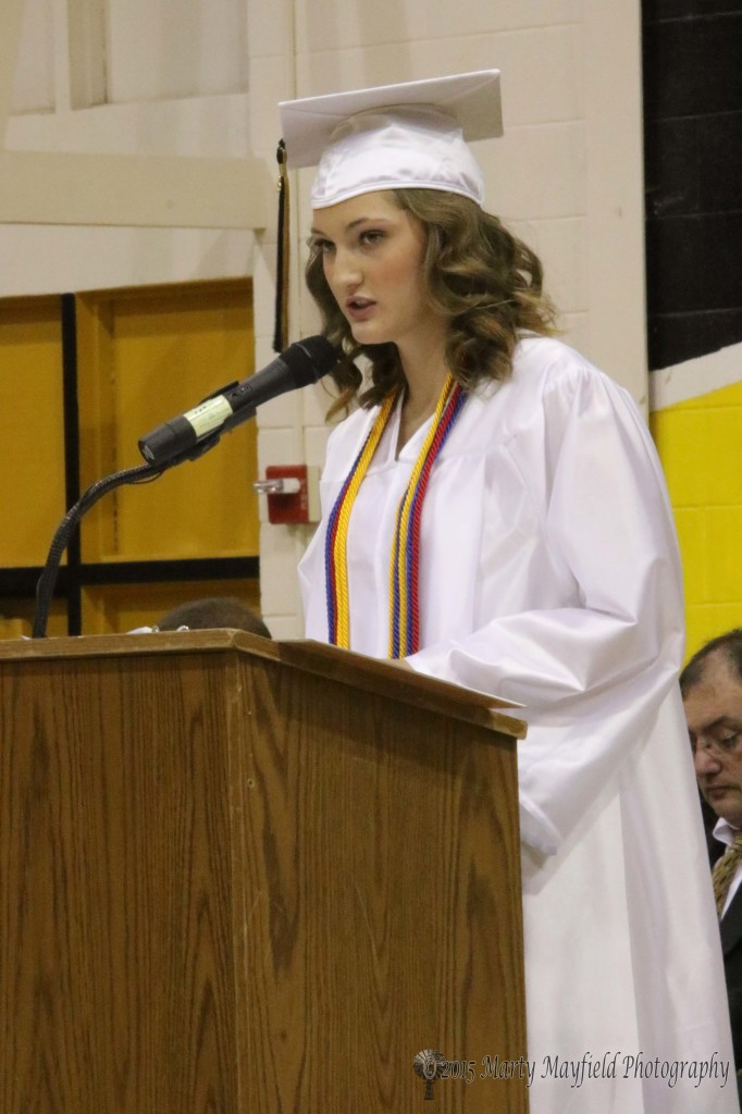 Natalie Castelini gave the welcome address at Friday night's RHS graduation