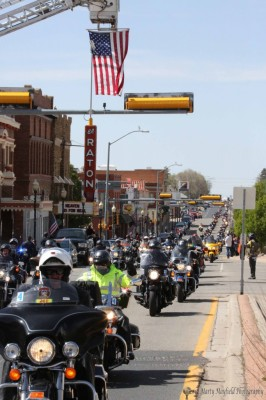 Riders parade through downtown Raton 2014 (photo by Marty Mayfield)