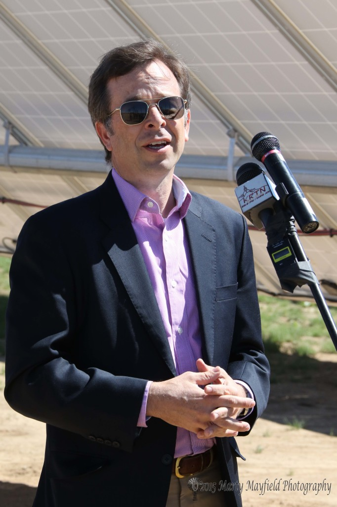 Terry Brunner, USDA Rural Development Director was instrumental in helping the Coop secure a $14 million loan to make improvements to their electric system which included this one megawatt solar array.