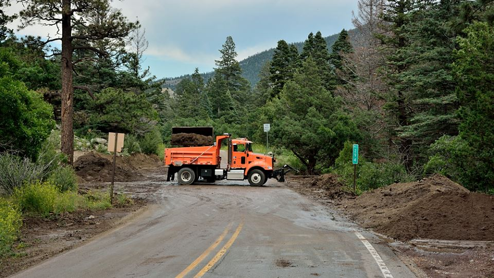 NMDOT cleans up after major flooding in Cimarron Canyon    Photo by David Wettling