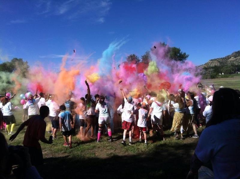 The color bomb from last year's color fun run.