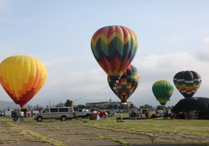 The wind was great but the clouds were not as it kept the balloons on the ground this Friday morning