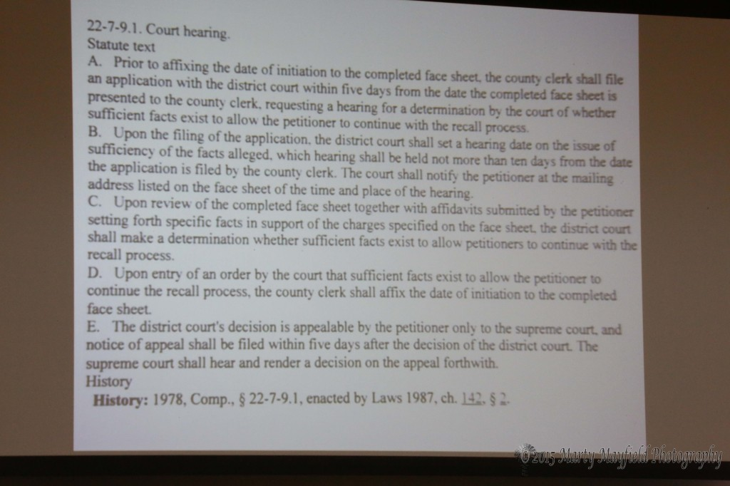 This is the statute that Judge Paternoster referenced to justify the justification hearing.