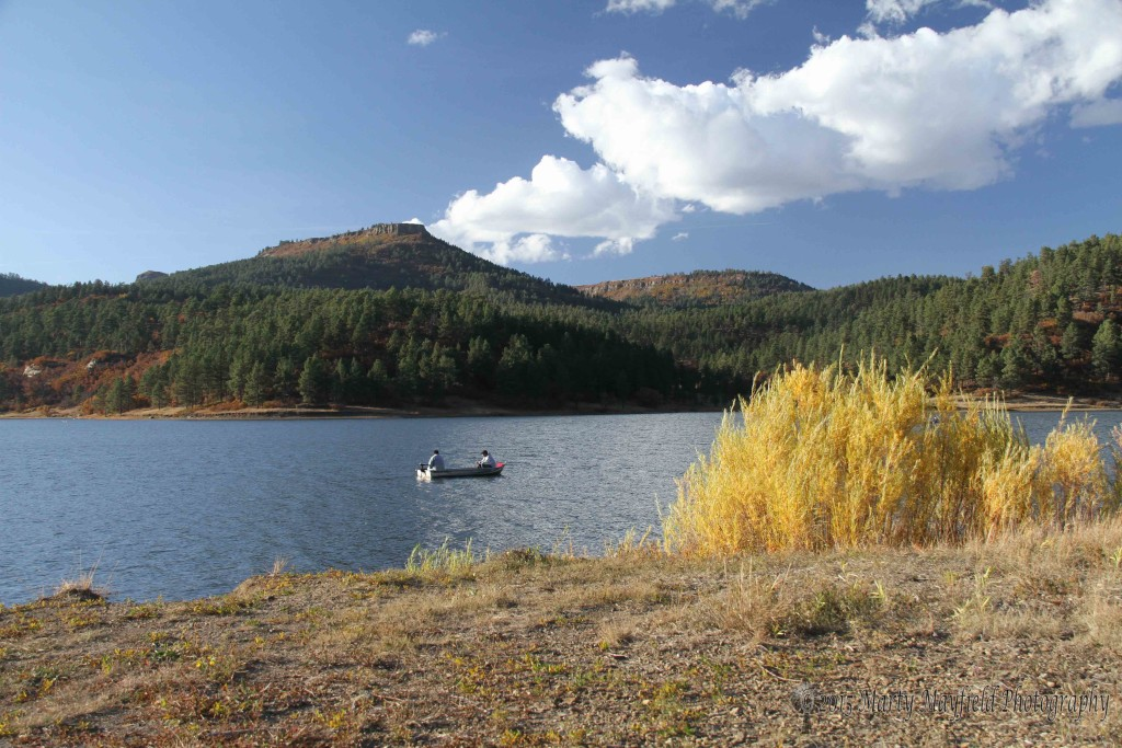 Boaters enjoy fishing and the fall colors at Lake Maloya before the 2011 Track Fire