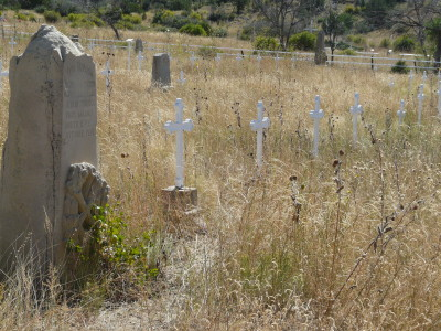 Dawson Cemetery crosses (Photo by Jim Veltri)