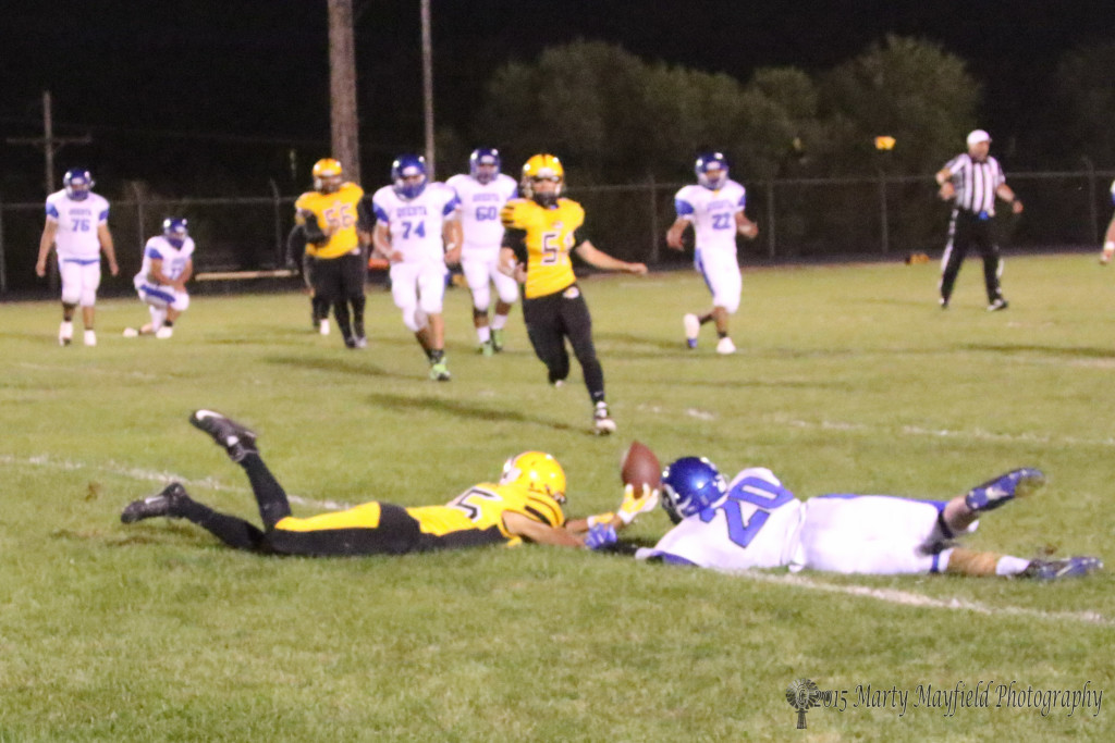 Jonathan Cabriales just can't quite keep hold of the low pass Friday night.