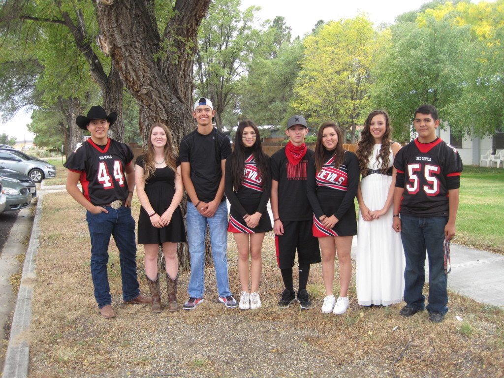 They KISSed the Rams goodbye for Springer homecoming last weekend. Springer homecoming royalty: Adrian Urquijo, Kara Burton (Seniors); Zac Caldwell and Michelle Finkbone (Juniors and the winners); Ryan Gallegos and Karissa Crosswhite (sophomores); and Ashley Saenz and Isaiah Vigil (freshmen).  Photos by Sherry Goodyear.
