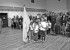 Springer's newly formed Girl Scout troop performed the posting of the flags ceremony at the VeteransDay celebration at the Luna College auditorium last week. Presenting the flags are:  Jordan Romero with US flag, Esperanza Tafoya with Zia flag and Brenna Duran calling the commands.  Photo by Sherry Goodyear.