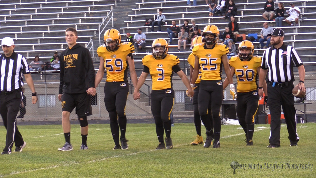 Kyler Daniel (3) served as one of the Captains of the Tiger Football team and was always a supporter of the team during his 2 year recovery from an ankle injury.