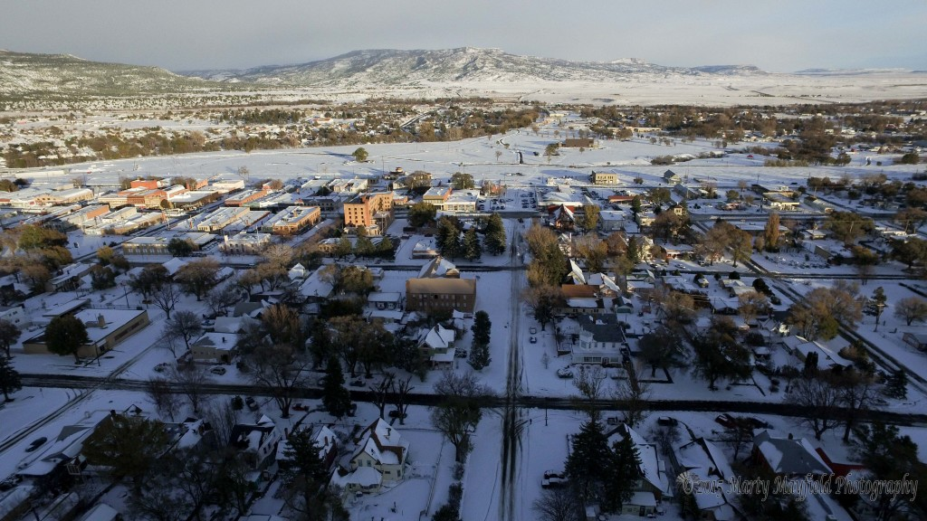Looking East from Rio Grande after the snow storm cleared out of Raton