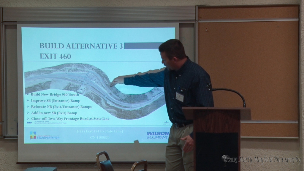 Alternative plan 3 builds a new bridge about 930 feet south of the old bridge and will have a major impact on the Port of Entry.