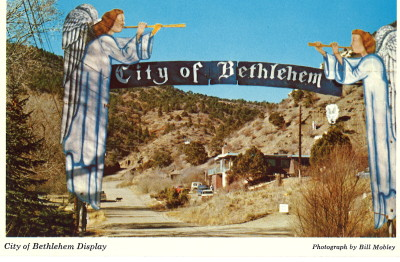 City of Bethlehem Postcard, circa late 1970s or early 1980s, made from a slide by Bill Mobley