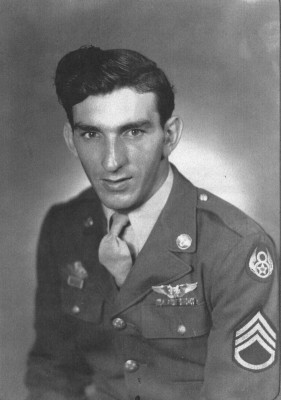 Al Manfredi in dress uniform of the U.S. Army Air Force
