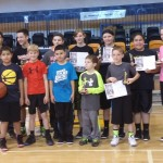 Competitors and sponsors of the 2016 Knights of Columbus Free Throw Contest in Des Moines.