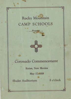 #4 Rocky Mountain Camp Schools Commencement Program (1939) (Courtesy of Joe Bertola Family)