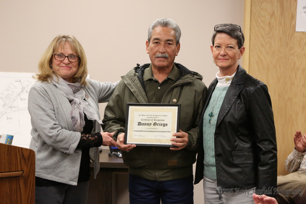 Danny Griego was presented the You Rock award at Tuesday evening's City Commission meeting for his efforts with the Young Marines and other volunteer projects.