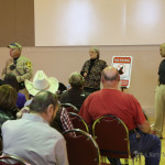 Colfax County Sheriff Sergeant Bill LaPorte and Raton Police Sergeant Noberto Dominguez talked about a couple of cases and how video is handled as evidence at the community neighborhood watch meeting Monday evening.