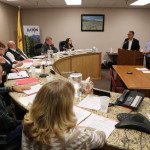 Rick Klein and Bill Sauble talk about the Tiger Grants with commissioners Tuesday evening